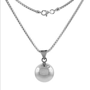 """Sterling Silver Harmony Ball Necklace w/ 29"""" Chain"""